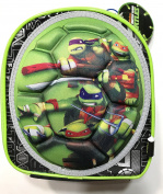 Teenage Mutant Ninja Turtles Insulated Zippered Lunch Tote with Handle, 3D Turtle Shell with character graphics of Donatello,Michaelangelo,Leonardo,Raphaelo , 23cm L x 20cm W x 13cm Deep