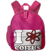 Pocket Design BagI Love Coitus Childrens'bag Toddler Preschool Backpack Children DesignBackpacks School Bag