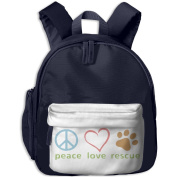 Pocket Design BagPeace Love Rescue Childrens'bag Toddler Preschool Backpack Children CuteBackpacks School Bag