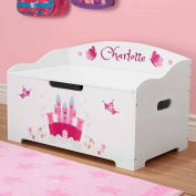 Personalised Dibsies Modern Expressions Toy Box - White