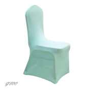 GFCC 8pcs Spandex Stretch Dining Slipcovers for Wedding Party Banquet Christmas,Turquoise Spandex Chair Covers