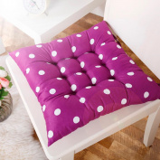 ZTY66 Soft Home Office Square Cotton Polka Dot Print Seat Cushion Buttock Chair Cushion Pad