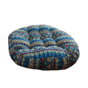 Ethnic Style Round Chair Cushions Seat Pad Floor Pillow Decorative Pillows, E