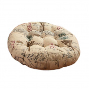 Round Chair Cushion Round Floor Cushions Tatami Pillow Seat Pad for Home, A