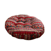 Ethnic Style Round Chair Cushions Seat Pad Floor Pillow Decorative Pillows, F