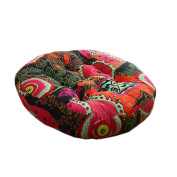 Ethnic Style Round Chair Cushions Seat Pad Floor Pillow Decorative Pillows, C