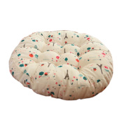 Round Chair Cushion Round Floor Cushions Tatami Pillow Seat Pad for Home, F