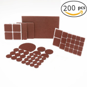 Blendnew Furniture Felt Pads-Best Hardwood/Laminate/Tiled Floor Protectors for avoid scratches-Chair Felt Pads of Various Sizes(248 piece)Including some small Furniture Bumpers
