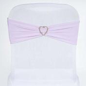 Tableclothsfactory 5pc x SEXY Spandex Chair Sash - Lavender