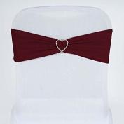 Tableclothsfactory 5pc x SEXY Spandex Chair Sash - Burgundy