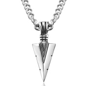 Jstyle Jewels Stainless Steel Necklace Man With Arrow Pendant Length 61CM