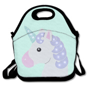 Waterproof Lunch Bag Unicorn With Zipper And Adjustable Strap Lunch Tote Box Hand Bag Picnic Boxes Travel Food and Meal Bags Backpack