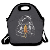 Waterproof Lunch Bag Astronauts With Dark Space With Zipper And Adjustable Strap Lunch Tote Box Hand Bag Picnic Boxes Travel Food and Meal Bags Backpack