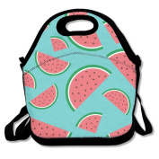 Waterproof Lunch Bag Mature Cut Watermelon With Zipper And Adjustable Strap Lunch Tote Box Hand Bag Picnic Boxes Travel Food and Meal Bags Backpack