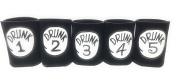 "Funny Neoprene Can Koozie/Coolers ""Drunk 2.5cm - 13cm Set - Black"