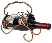 Tabletop Wine and Champagne Holder Bronze Metal Display with Grapevine Design by bogo Brands