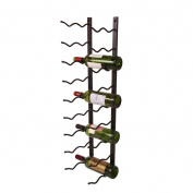 MingHou 18 Bottles Wall Mounted Black Metal Wine Display Decorative Rack Holder Storage Hanging Bottle Corks