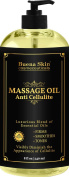 Anti Cellulite Massage Oil Treatment - 100% Natural Ingredients - Lifts and Tightens Skin Appearance - Targets Unwanted Fat Cells Deposits - Hydrates and Moisturises - By Buena Skin 240ml