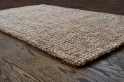Milliard Handspun 0.9m x 1.5m Natural Area Jute Rug, Thick and Sturdy, Beautiful look and Matches all Colour Schemes, Environmentally Friendly