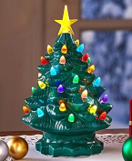 Retro Lighted Tabletop Christmas Trees , Green Large