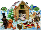 Playing in the Snow Shaped 900 Piece Jigsaw Puzzle by SunsOut