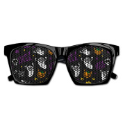 Happy Helloween Ghost Bat Pumpkin Pattern Funny Mesh Lens Sunglasse Resin Frame Party Favours Fancy Favour 54x20x150MM