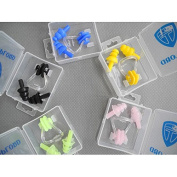 EDTara Earplugs Set with Case Great for Swimming Diving Adult Soft Waterproof Silica Gel Nose Clip