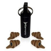 Earmonix Shooting & Impact Earplugs - Impulse Noise Reducing - Protects from Harmful Noise Levels - Tactical Filter Design for Military & Police Use - Medical-Grade TPE for Health, Safety, and Comfort