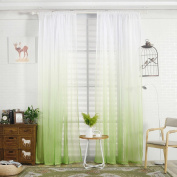 Paymenow Home Fashion Unique Gradient Colour Half Shade Window Treatments Decorative Rod Pocket Window Curtains Drapes For Living Room Girls Room Wedding Room 1 Panel