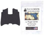 Tractiongrips rubber grip tape overlay for Ruger 22/45 with non removable grips