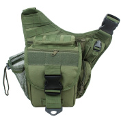 L-Peach Men's Multi-functional Military Tactical Messenger Shoulder Bag Molle Bag for Hunting Hiking Cycling Climbing