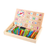 Yosoo Wooden Number Cards & Counting Rods With Storage Box For Kids Preschool Educational Arithmetic Learning