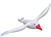 2 X NEW INFLATABLE SEAGULL 76cm GREAT FOR BEACH SCENES