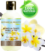 MONOI de TAHITI VANILLA TIKI OIL 100 % Natural / 100% PURE BOTANICALS. For FACE, BODY, HANDS, FEET, MASSAGE, NAILS & HAIR and LIP CARE.