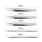 Tikeda Professional Surgical Blackhead Remover Tools Blemish and Splinter Acne Pimple Removal Kit