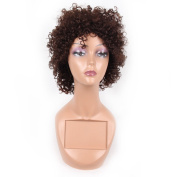 HAIR WAY 100% Pure Human Hair Wigs Short Kinky Curly Wig for Women None Lace Capless Full Machine Made Short Curly Human Hair Wig for Daily Wear #4