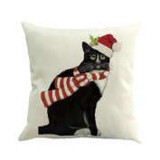 Christmas Pillow Cases,SUPPION Merry Christmas Printing Dyeing Sofa Bed Home Decor Pillow Cover Cushion Cover
