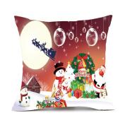 Newest Merry Christmas Pillow Cases Cotton Linen Sofa Cushion Cover Home Decor