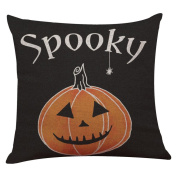 Pillow Case,SUPPION Happy Halloween Linen Throw Pillow Case Cushion Cover Home Sofa Decor New (9 kinds of patterns)
