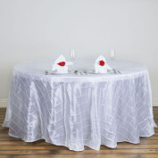 Tableclothsfactory White Pintuck Tablecloths 300cm Round