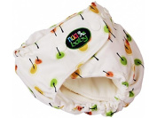 Modern Cloth Nappy by nuababy. One-size-fits-all nappy system with double pocket openings-includes waterproof shell and 2 piece soaker set-snap closure & double adjustable leg gusset