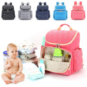 Nappy Bag Backpack, Multi-function Baby Nappy Bag, Large Capacity Travel Nappy Backpack, Stylish and Durable Waterproof Travel Organiser for Women & Men by Shellvcase