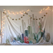 Cactus Tapestry,ASDOMO Cactus Landscape Wall Tapestry Bohemian Tapestry Cactus Tapestry Watercolour Tapestry Indian Wall Decor Hippie Tapestry Headboard Home Decor