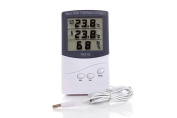 LCD Indoor Outdoor Digital Thermometer Remote Home Room Hygrometer Temperature Humidity Metre Monitor Gauge with Probe