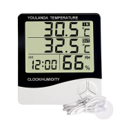 Digital Hygrometer Thermometer Large Display Humidity Temperature Monitor Indoor Outdoor with Alarm Clock
