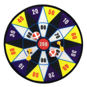Silfrae Target Game Safety Fabric Dart Board Set with 2 Darts and 2 Balls For Boy and Girls