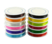 10 Roll Multicolor Fish Silk Elastic Line - 0.8mm/1mm Beaded Wire for DIY Hand Chain Wire String Bead String Crystal String (Colour Random Mixed Send)