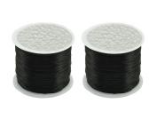 0.5mm Flat Crystal Elastic Line - 54 Yard/Roll - 2 Roll Beading Elastic Cord for DIY Handmade Accessories Beaded Bracelet Rope