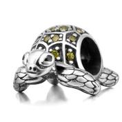 925 Sterling Silver Tortoise Charm Sea Turtle Charm Animal Charm Pet Charm Anniversary Charm Birthday Charm for Pandora Charms Bracelet