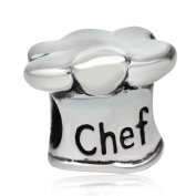 925 Sterling Silver Chef Charm Hat Charm Cooking Charm Anniversary Charm Birthday Charm for Pandora Charms Bracelet